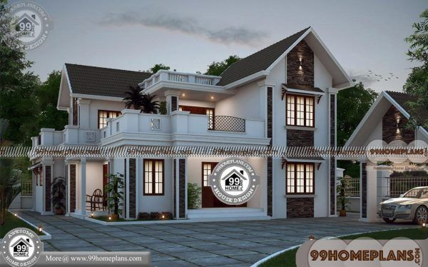 Wide Lot House Plans With 100 3d Double Story House Plans Collections Porch House Plans House Plans Double Story House