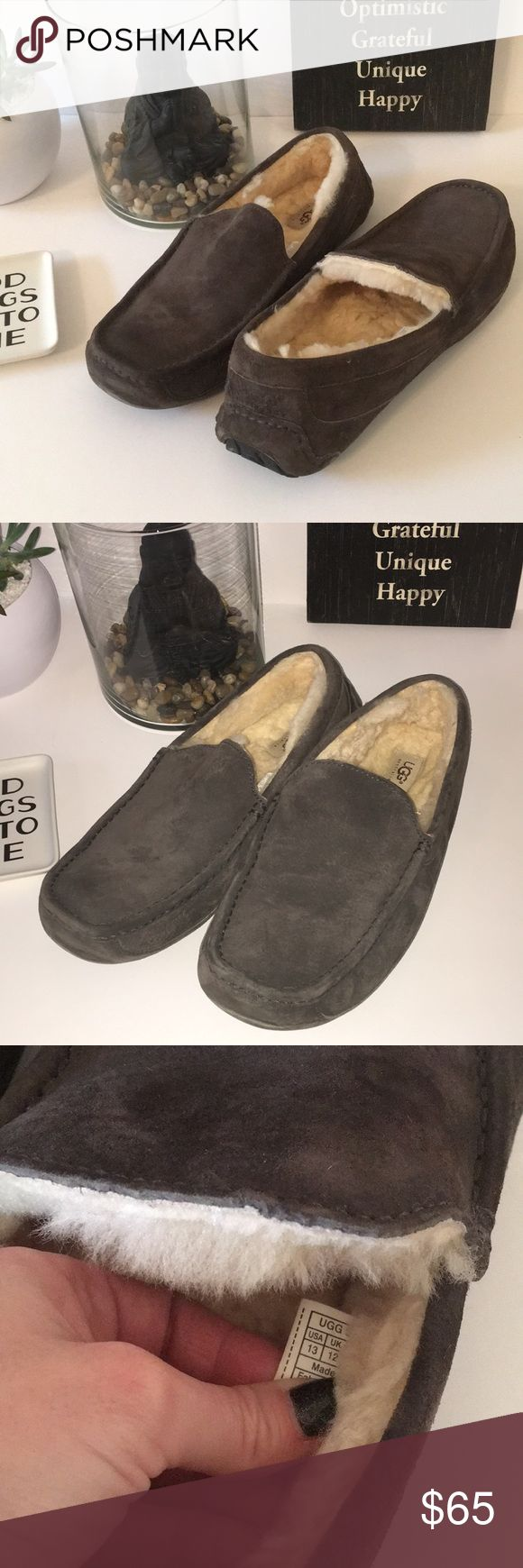 ✨Mens Ugg Slippers Reposhing these bought for a friend and not the right size. Like new condition for half the price. These are a must have slipper so warm! Ascot suede style UGG Shoes