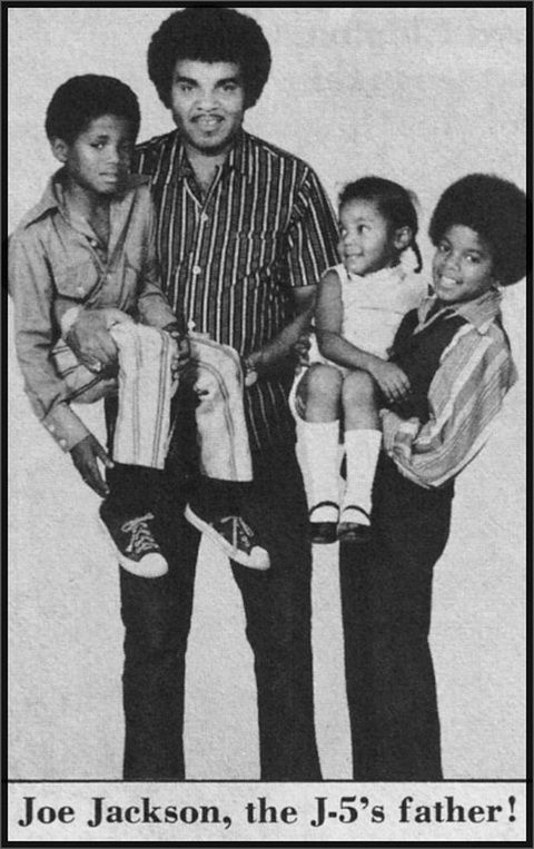 Joe Jackson with Randy Jackson, Janet Jackson, and Michael Jackson