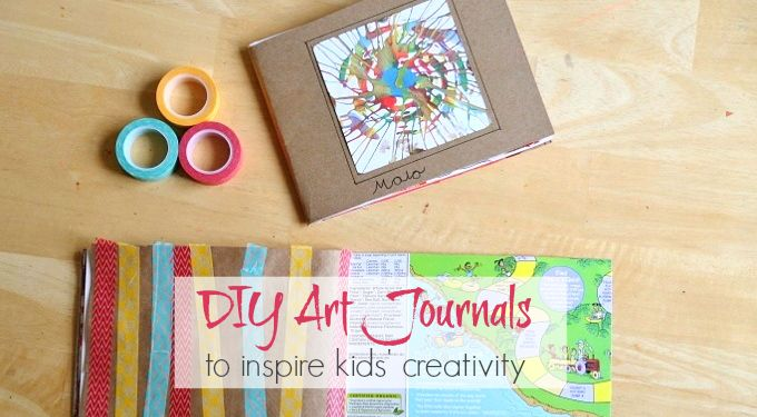 DIY Art Journals for Kids with Drawing Prompts to Inspire Kids Creativity