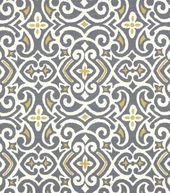 Dining Room: Joanns: Upholstery Fabric-Robert Allen New Damask Greystone