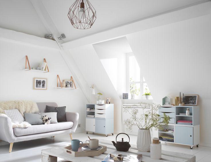 18 best d co scandinave images on pinterest salons blue for Decoration epuree salon