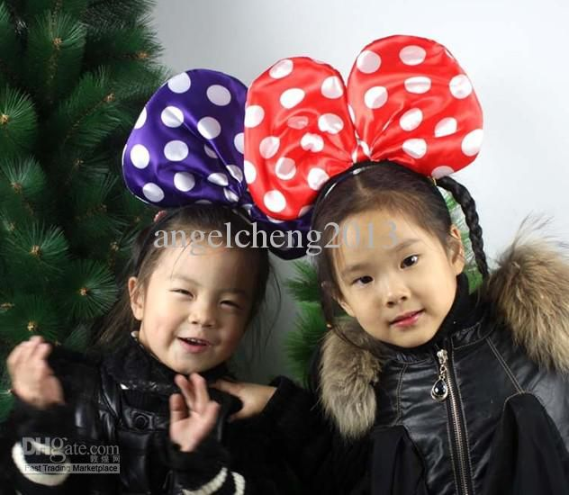 хэллоуин вечеринка в честь королевы большой световой минни бабочка лук оголовье волосы бант 5 цветов