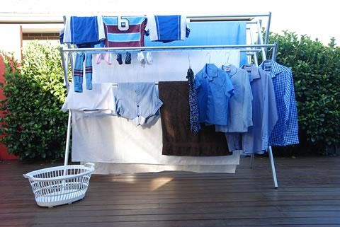 Huge capacity clothes drying rack hang sheets and towels