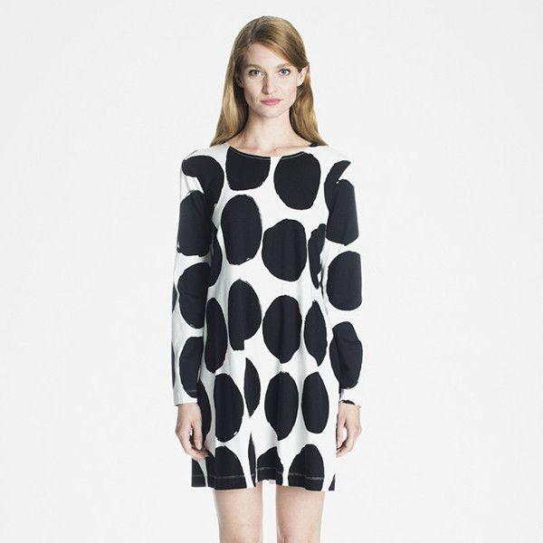 Marimekko Apparel - Kiuru Dress - Off White/Black – Kiitos living by design