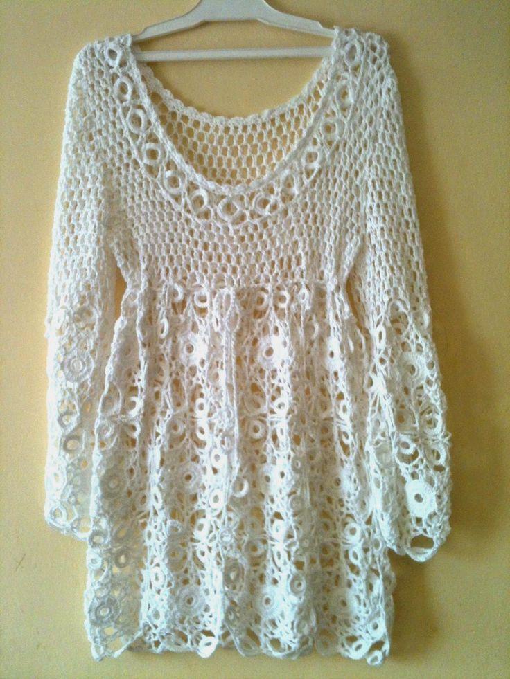 Elegancias a Crochet: En este blog podrás encontrar tejidos a crochet únicos.Túnicas en hilo y lana. Sweaters,Chalecos, ponchos etc.