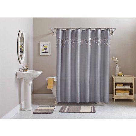 Best BlackGrey Bath Decor Images On Pinterest Basement - Gray and yellow bathroom rugs for bathroom decor ideas