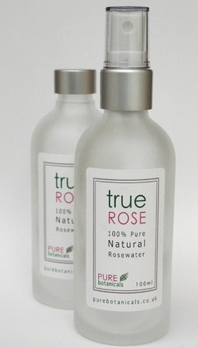 True Rose Bulgarian Rose Natural Floral water mister, glass bottle by True by Pure Botanicals