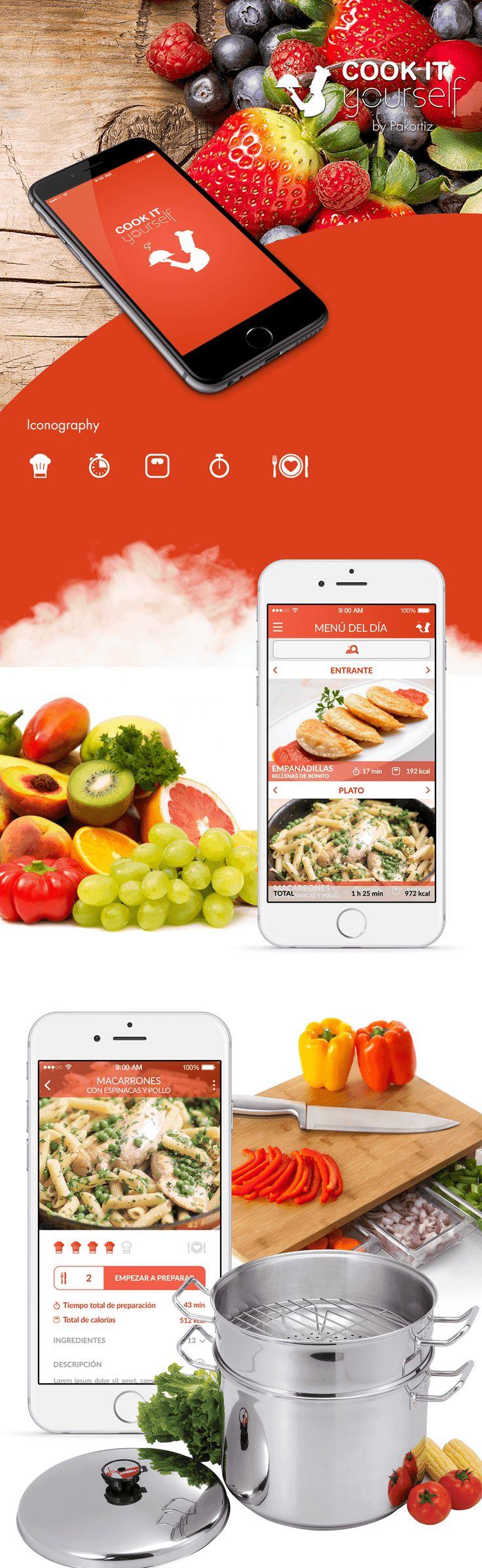 UX/UI Design app Cook it Yourself on Behance