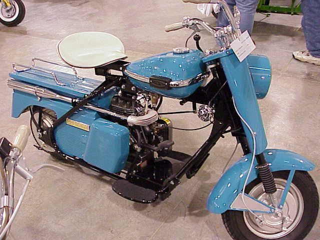 Cushman scooter. Delivered the local news paper on a Cushman eagle. My pre-car years!