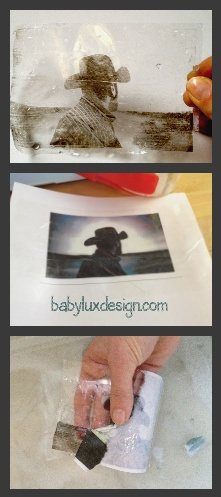 how to make a photo image transfer using packing tape...