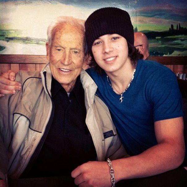 Leo and his grandpa   Leo Howard   Pinterest Leo Howard And His Dad