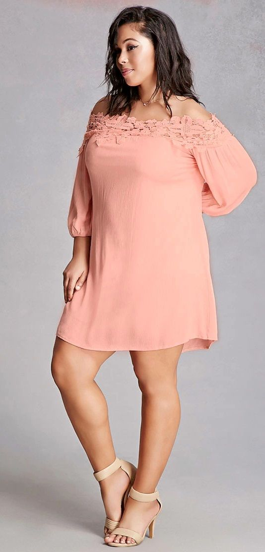 Plus Size Crochet Mini Dress Check out our amazing collection of plus size dress... 2