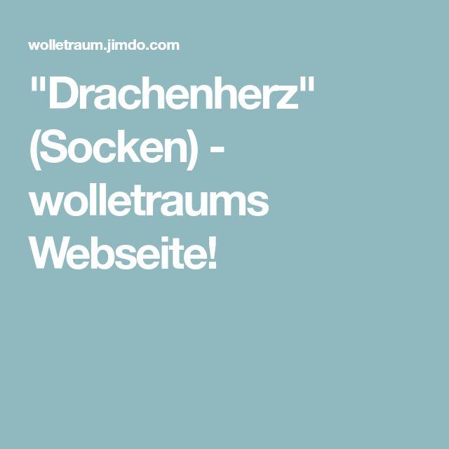 """""""Drachenherz"""" (Socken) - wolletraums Webseite!"""