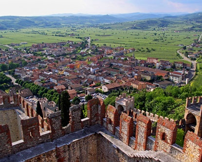 Soave Italy is a small walled town in the Veneto region, fourteen miles east of Verona