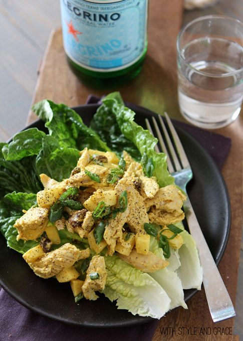 Curried Chicken & Apple Salad (will be great with some fresh croissants): Curry Chicken Salad Recipes, Spinach Salad, Apple Salad Recipes, Lauralicious Recipes, Style, Apples, Apple Chicken Salads, Curried Chicken Salad
