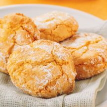 Chewy Almond Orange Cookies (or biscuits, as the Brits say.)