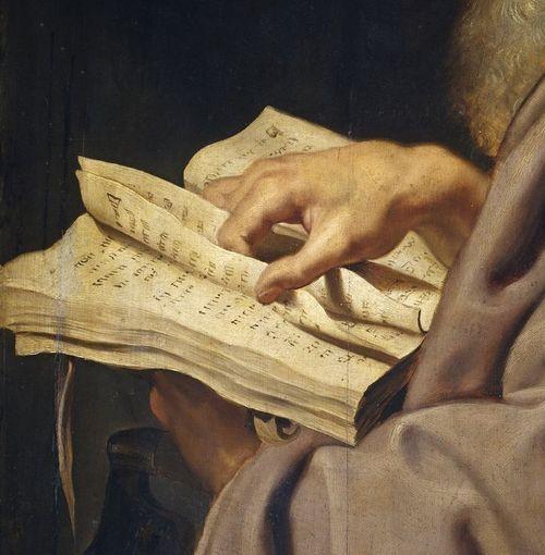 Leafing through / Hojeando (pintura de Pedro Pablo Rubens)