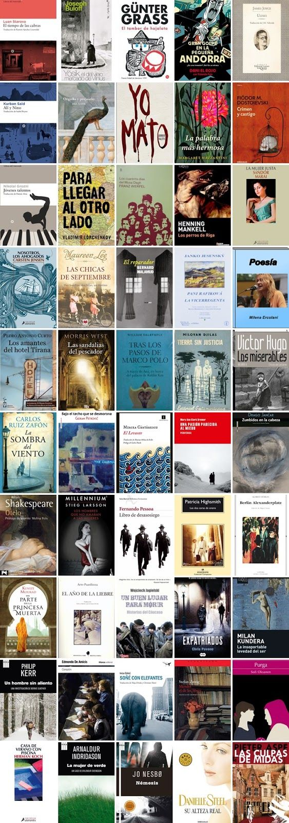 Listas de lectura para adultos