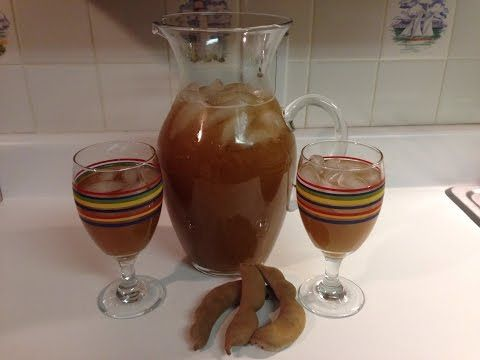 Receta: Como hacer jugo/agua de tamarindo! - YouTube Delicious!  I used one pd of pods and 3/4 C sugar.  The addition of salt was a great idea!