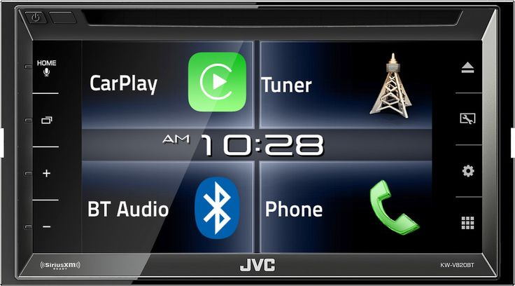 With the iPhone in mind       Looking for a car stereo that you can operate like your iPhone? The JVC Arsenal KW-V820BT DVD receiver includes Apple CarPlay which lets you control many of  #FathersDay #FathersDayGift  Shop Here: https://www.crutchfield.com/I-rPTRcFTHR/p_905KWV820B/JVC-Arsenal-KW-V820BT.html?cc=01&tp=72357