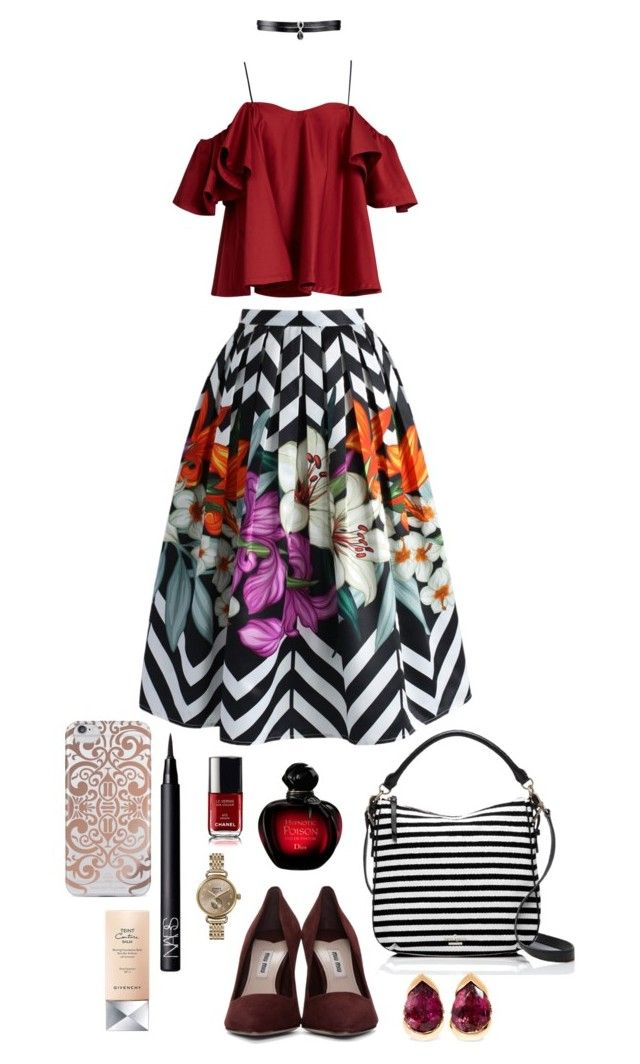 """Heavy"" by angeleshiny on Polyvore featuring Anna October, Chicwish, Miu Miu, Kate Spade, Fallon, Shinola, Fernando Jorge, Nanette Lepore, NARS Cosmetics and Givenchy"