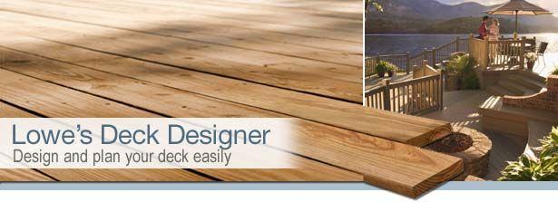 Deck Planner Lowes In 2020 Deck Design Deck Planner Diy Deck