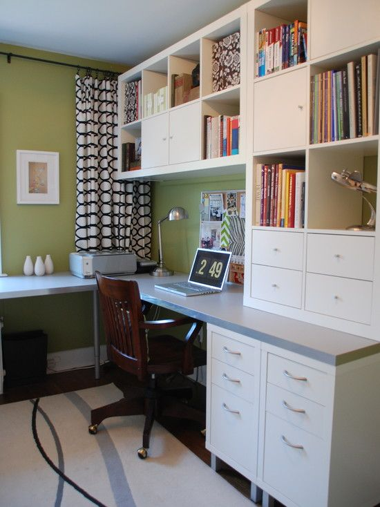 long, narrow home office space