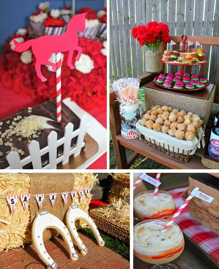 Saratoga Horse Racetrack Party with SO MANY GREAT IDEAS via Kara's Party Ideas