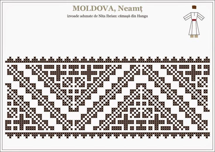 Semne Cusute: romanian traditional motifs - MOLDOVA - Neamt, Hangu