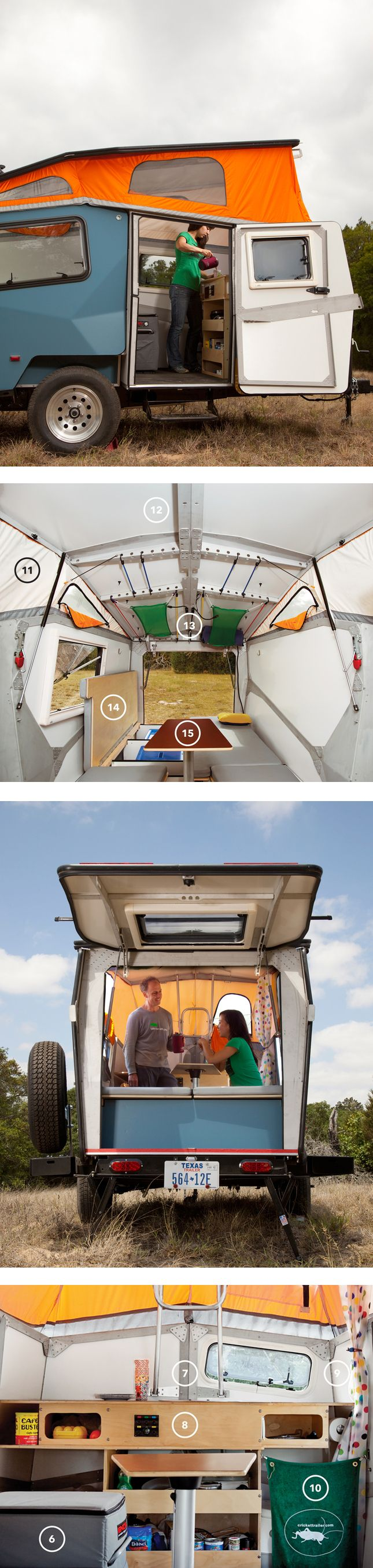 part tent, part rv, the cricket trailer is the go-to for the modern road tripper. via dwell. #travel