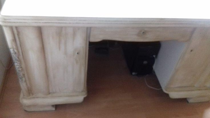 Schreibtisch Eiche auf Shabby Bauanleitung zum selber bauen