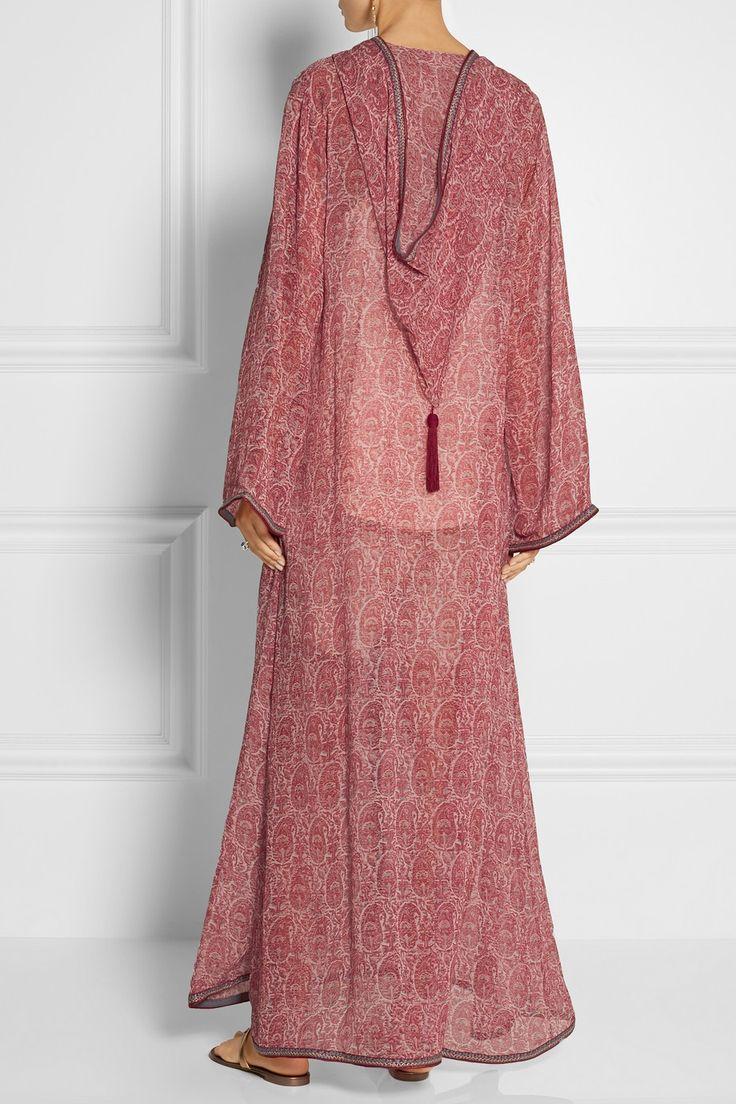 Talitha|Printed silk-georgette kaftan-style jacket