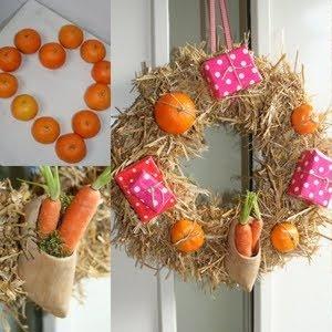 Wilde strokrans+delfs blauw klompje+pakjes+mandarijntjes