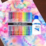 dye with permanent markers and rubbing alcohol diy