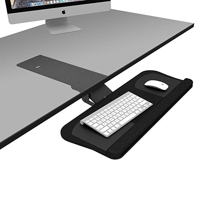 Devaise Adjustable Keyboard Mouse Platform Tray With Gel Wrist Rest Pad And Non Skid Pads Review Wrist Rest Keyboard Gel