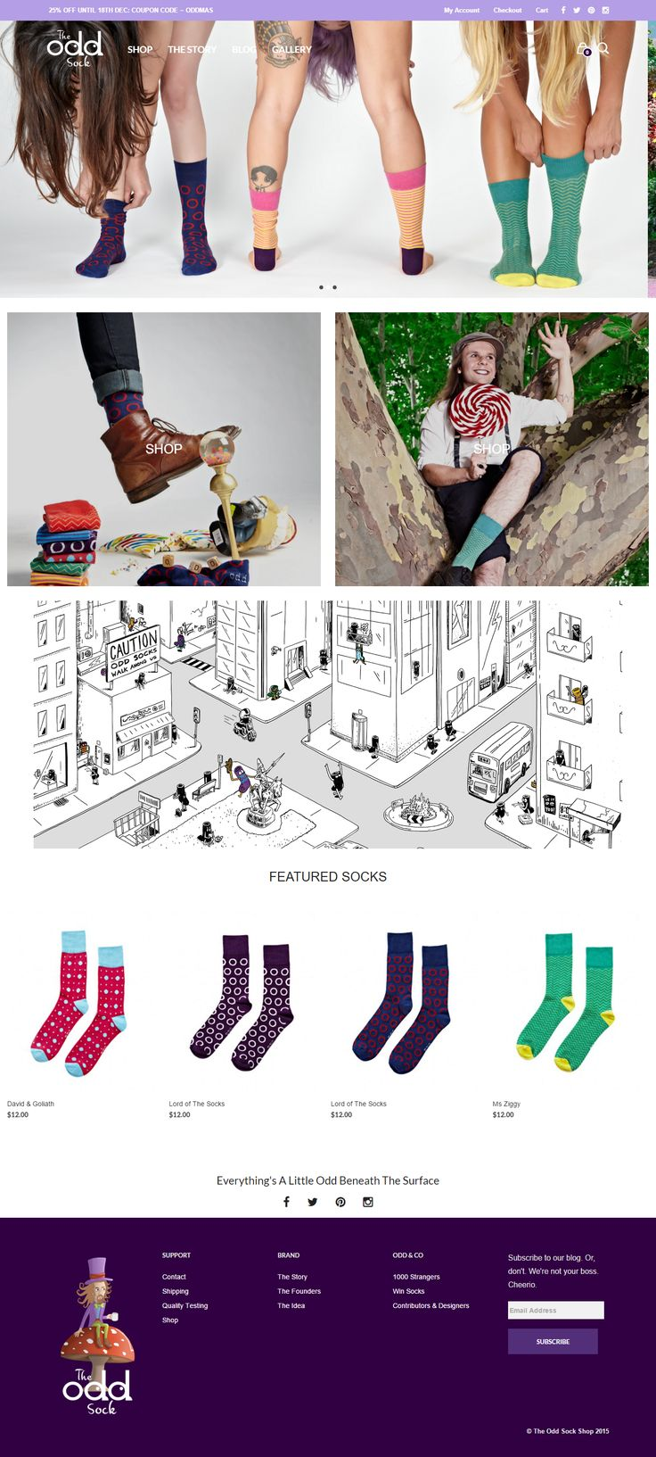 The story of The Odd Sock, powered by Mr Tailor #wptheme http://www.getbowtied.com/customer-stories-sock-company-the-odd-sock/?utm_source=pinterest.com&utm_medium=social&utm_content=odd-sock&utm_campaign=customer-stories #creativesocks #ecommerce #wordpress #bestwebsites #webdesign #templates #onlineshop