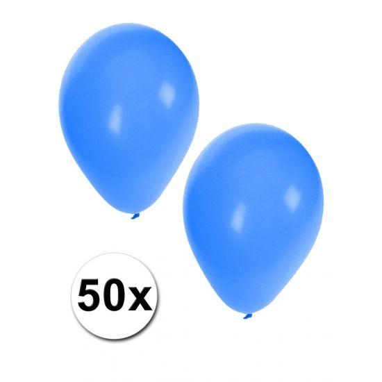 Zakje met 50 blauwe feest ballonnen  50 Blauwe ballonnen. De ballonnen zijn ongeveer 27 cm lang en kunnen gevuld worden met helium en lucht.  EUR 5.00  Meer informatie