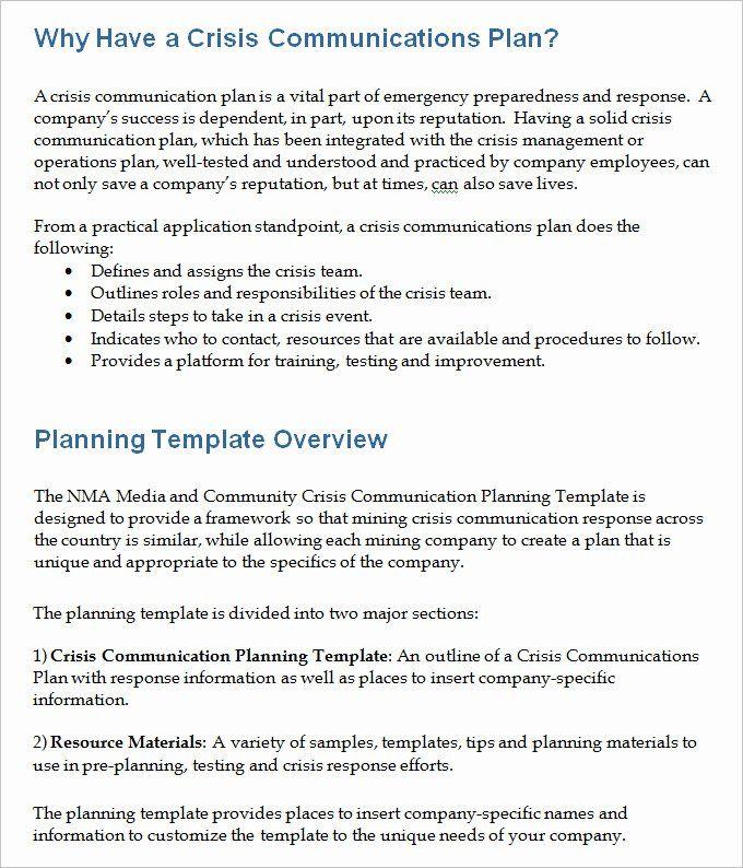 Sample Crisis Communication Plan Template Awesome 3 Crisis Munication Plan Templates Doc Pdf In 2021 Communications Plan Communication Plan Template How To Plan