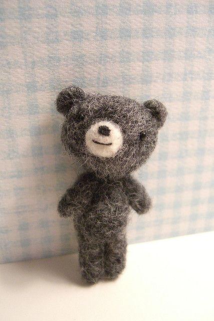 Needle felted bear
