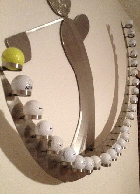 Golf Ball Display / Holder by gotsteel on Etsy