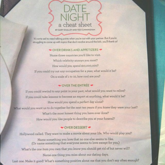 dating conversation ideas Sometimes it's hard to know what things to talk about when on a date here are 8 conversation topics you can use when you've run out of things to talk about.