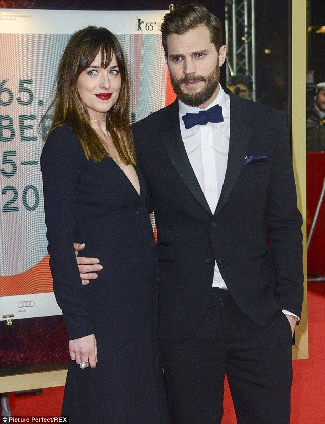 Wow: The daughter of Melanie Griffith and Don Johnson stars in the film with Jamie Dornan, who plays Christian Grey; pictured at the premiere of Fifty Shades Of Grey at the Berlin International Film Festival in 2015