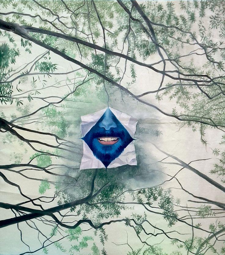 """Return to Forever""  Oleo sobre lienzo  Dimensiones: 90cm x 80cm  (2017)"