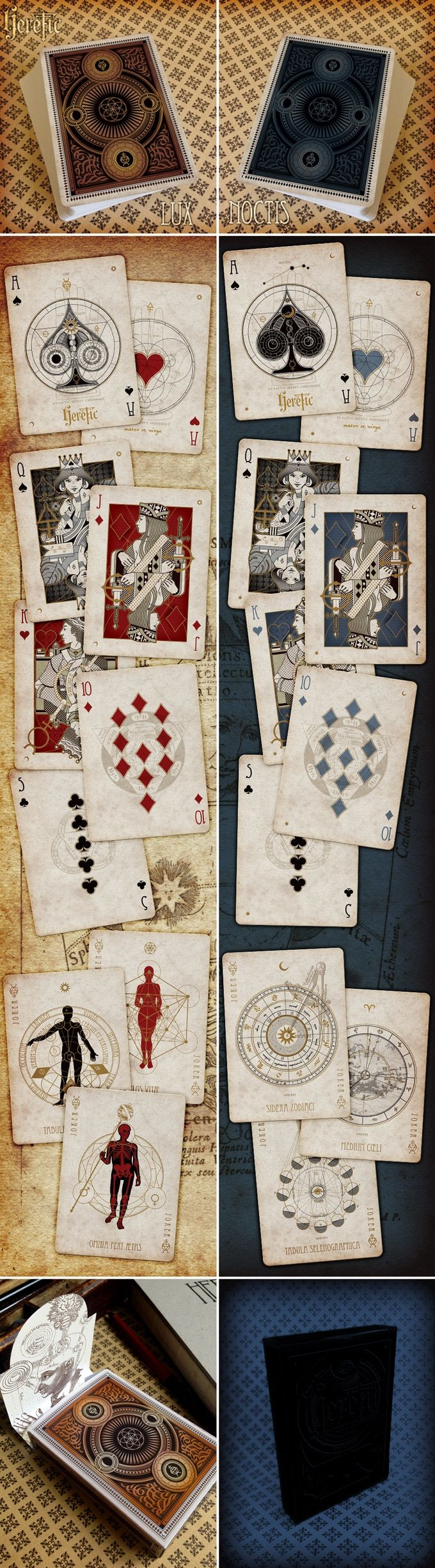 Custom playing cards - poker size - Master finish printed by EPCC at Conjuring Arts, New York City. Limited Edition.