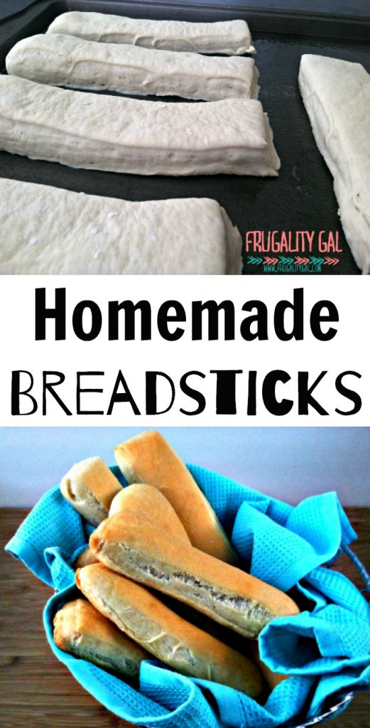 Easy Homemade Breadsticks Recipe. No mixer required for this bread recipe - it's made 100% by hand!