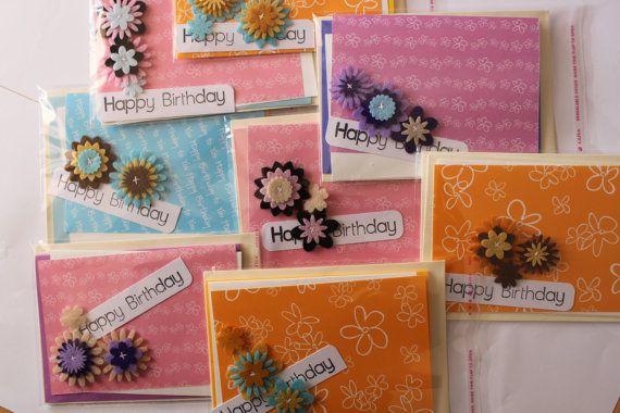 Fancy Flower Card Kit by JacsCraftyCards on Etsy