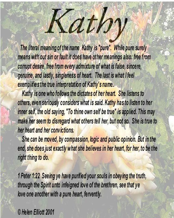 The meaning of Kathy