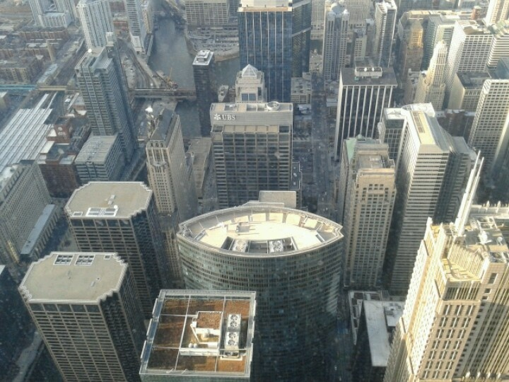 Looking down on Willis Tower