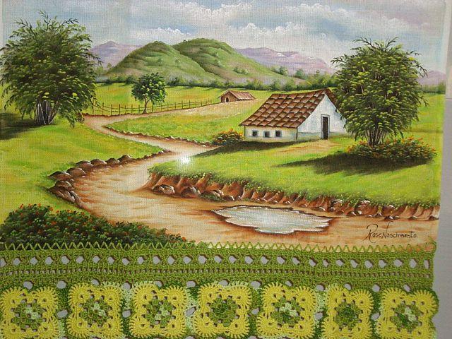 Paisagem | por Rose Nascimento - Pintura em Tecido